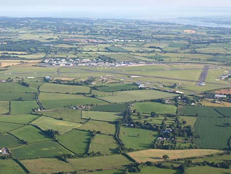 """Exeter airport from the air""""  hspace="""