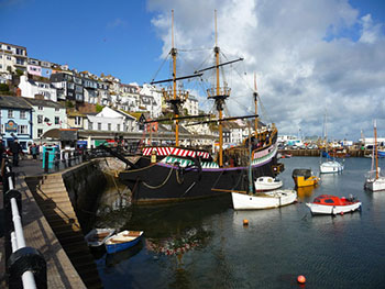 Replica of the Golden Hind at Brixham