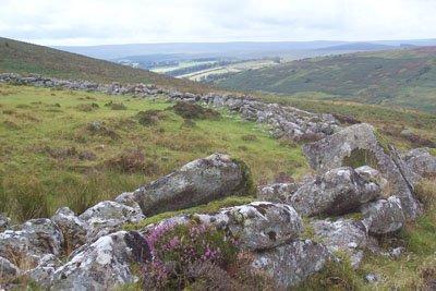 Grimspound, a Bronze Age village in the ancient landscape of Dartmoor