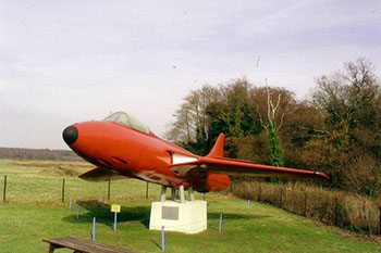 A Hawker Hunter at Bournemouth Aviation Museum
