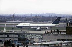 British Airways plane at Heathrow