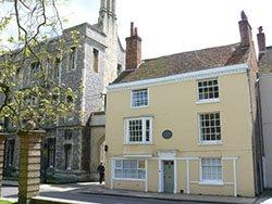 "House where Jane Austen died"" hspace="