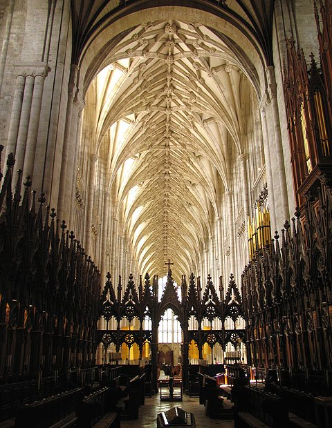 """Inside the beautiful ancient Winchester Cathedral"""" hspace="""