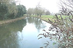 """The River Itchen at St Cross"""" hspace="""