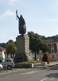 Statue of King Alfred, High Street, Winchester