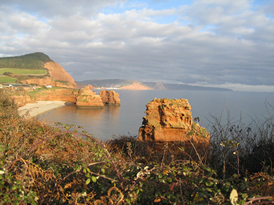 "Ladram Bay on the Jurassic Coast in midwinter"" hspace="