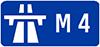 M4 road sign