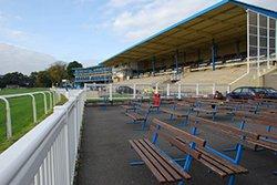 "Newton Abbot Racecourse Grandstand"" hspace="