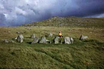 Nine Maidens Stone Circle on the moor near Belstone