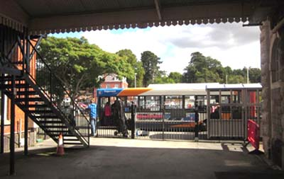 The useful No 56 bus waiting at St David's station to go to the airport and Exmouth