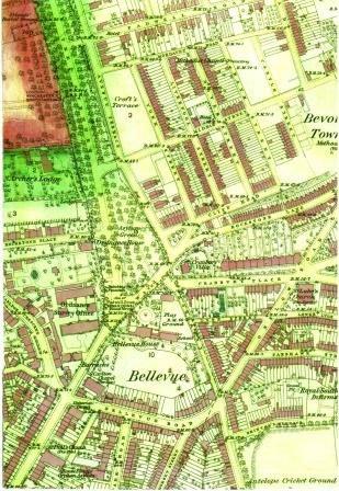 1865 Ordnance Survey Map Southampton
