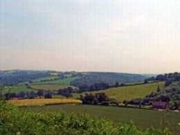 The vista from Posbury Clump