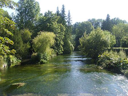 """The River Test at Longparish"""" hspace="""