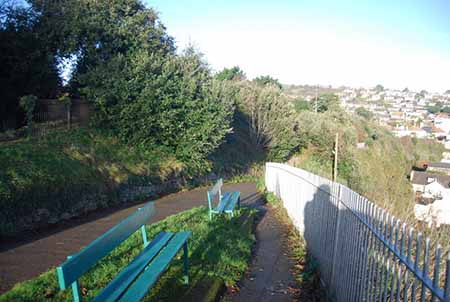 """The South West Coast Path as it leads down into Dawlish"""" hspace="""
