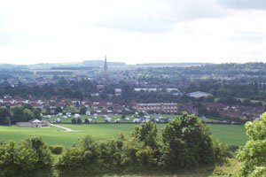 The view of Salisbury from Old Sarum
