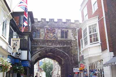 High Street Gate showing many styles of architecture