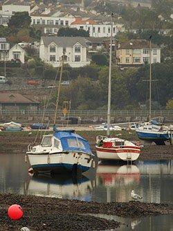 """Boats at Shaldon"""" hspace="""