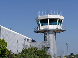 """Control Tower at Southampton International Airport"""" hspace="""