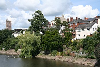 "The River Exe at Tiverton"" hspace="