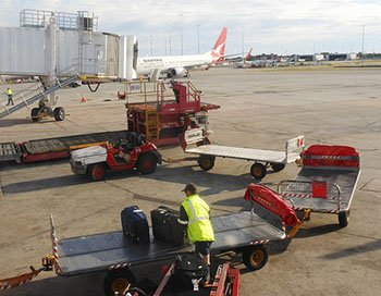 Baggage Handlers at the airport